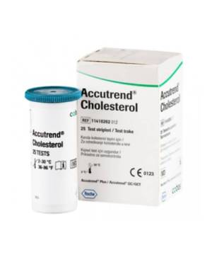 ACCUTREND CHOLESTEROL 25 TEST STRİBİ